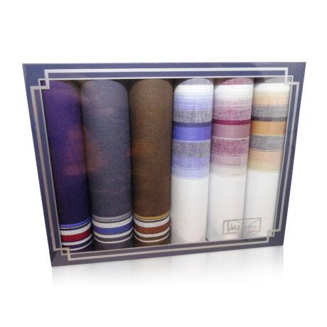 M37-17 Ffi textilzsebkendő 6db díszdobozban