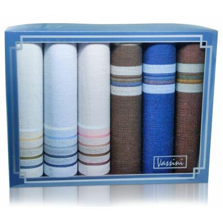 M37-49 férfi textilzsebkendő csomag (6db)