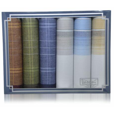 M37-51 férfi textilzsebkendő csomag (6db-os) - elegáns