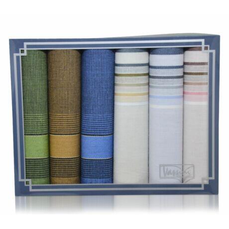 M37-53 férfi textilzsebkendő csomag (6db) - fiatalos