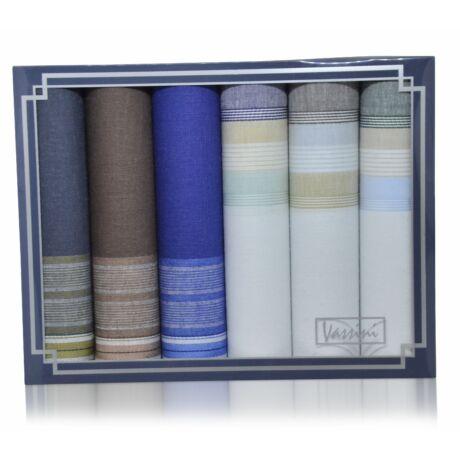M37-54 férfi textilzsebkendő csomag (6db-os)