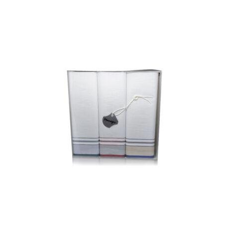 M38-1 Férfi textilzsebkendő 3db, dobozban