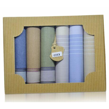 M50-11 férfi textilzsebkendő csomag (6db-os) - fiatalos