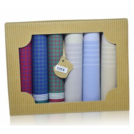 M50-13 férfi textilzsebkendő csomag (6db-os) - modern