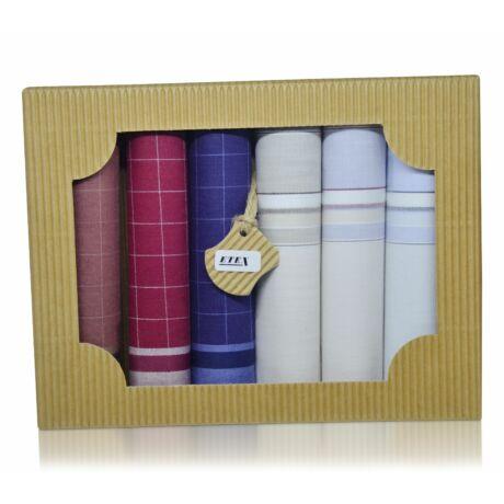 M50-19 férfi textilzsebkendő csomag (6db-os) - elegáns