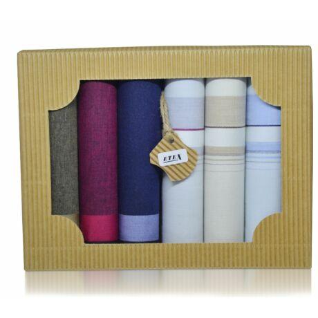 M50-21 férfi textilzsebkendő csomag (6db-os) - elegáns