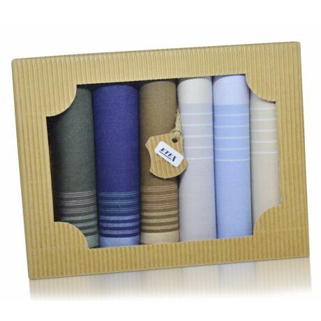 M50-3 férfi textilzsebkendő csomag - 6db-os