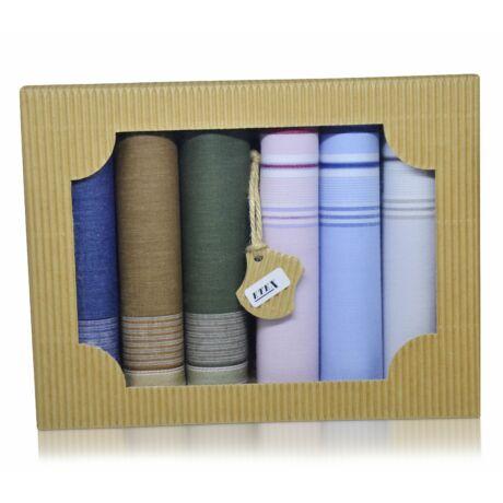 M50-4 férfi textilzsebkendő csomag (6db-os) - elegáns