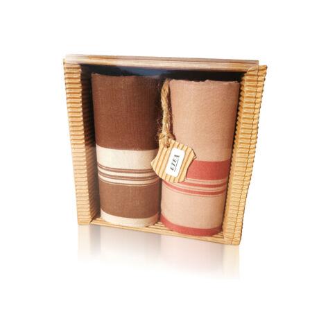 M51-10 Ffi textilzsebkendő 2db hullámkarton csomagolásban (ÖKO)