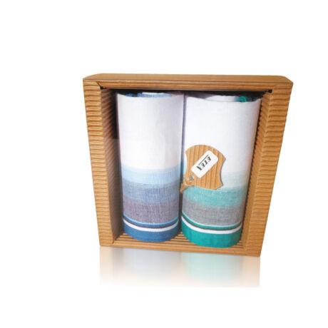 M51-14 Ffi textilzsebkendő 2db hullámkarton csomagolásban (ÖKO)