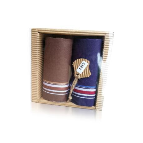 M51-2 Ffi textilzsebkendő 2db hullámkarton csomagolásban (ÖKO)