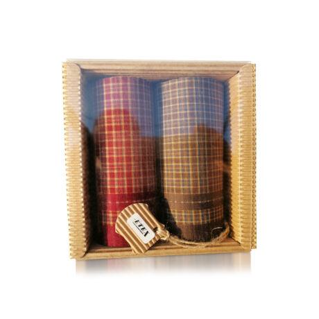 M51-21 Ffi textilzsebkendő 2db hullámkarton csomagolásban (ÖKO)