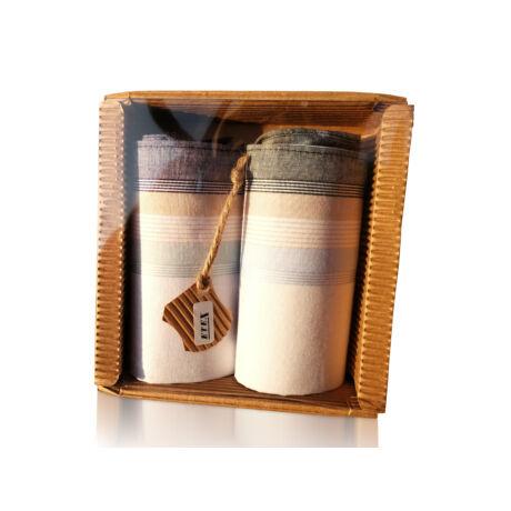M51-26 Ffi textilzsebkendő 2db hullámkarton csomagolásban (ÖKO)