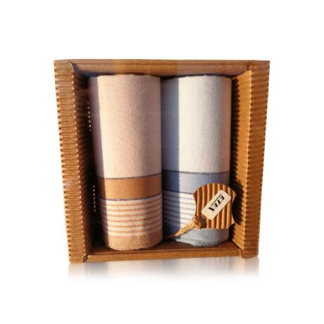 M51-27 Ffi textilzsebkendő 2db hullámkarton csomagolásban (ÖKO)