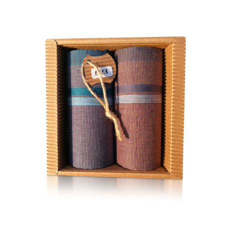 M51-29 Ffi textilzsebkendő 2db hullámkarton csomagolásban (ÖKO)