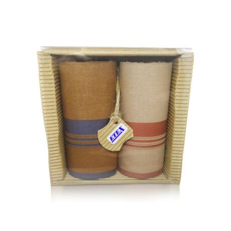 M51-31 Ffi textilzsebkendő 2db hullámkarton csomagolásban (ÖKO)