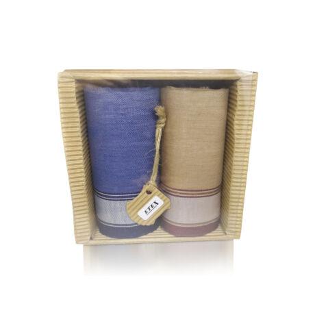 M51-33 Ffi textilzsebkendő 2db hullámkarton csomagolásban (ÖKO)
