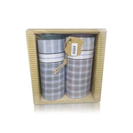 M51-34 Ffi textilzsebkendő 2db hullámkarton csomagolásban (ÖKO)