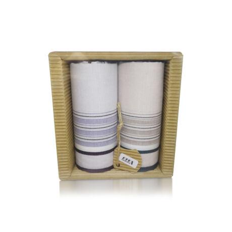 M51-38 Ffi textilzsebkendő 2db hullámkarton csomagolásban (ÖKO)