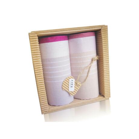M51-40 Ffi textilzsebkendő 2db hullámkarton csomagolásban (ÖKO)