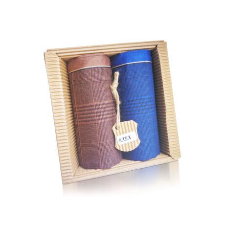 M51-42 Ffi textilzsebkendő 2db hullámkarton csomagolásban (ÖKO)