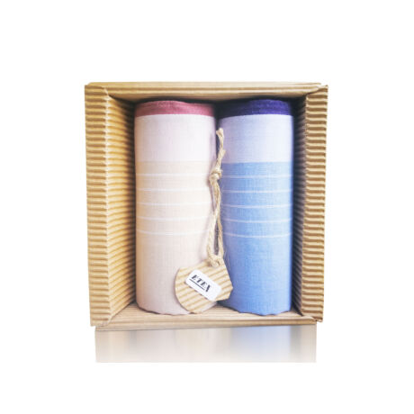 M51-44 Ffi textilzsebkendő 2db hullámkarton csomagolásban (ÖKO)