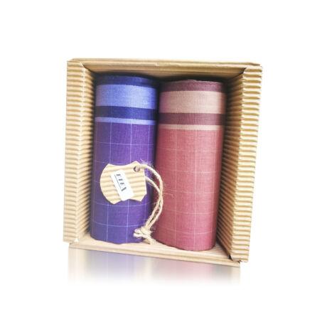 M51-45 Ffi textilzsebkendő 2db hullámkarton csomagolásban (ÖKO)