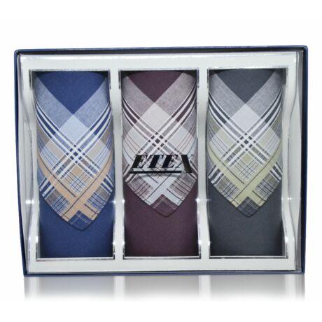 M55-1 elegáns férfi textilzsebkendők - díszdobozban