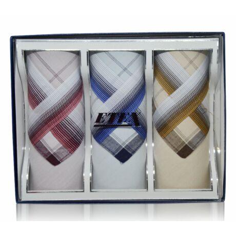 M55-12 elegáns férfi textilzsebkendők - díszdobozban