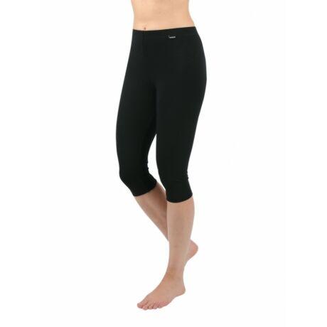 Fekete 3/4 Capri leggings - pamut