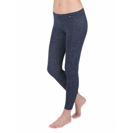 Pamut leggings - hosszú-farmerkék