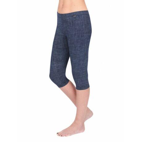 Pamut leggings - 3/4 capri - farmerkék
