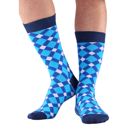 NORDKAMP Design Pepita zokni - fehér DP0102