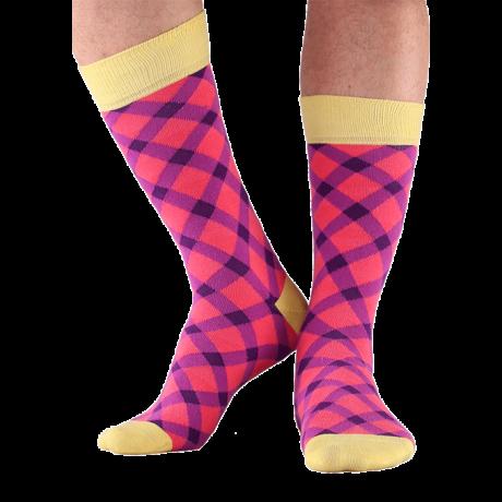 NORDKAMP Design Pepita zokni - lila DP0103
