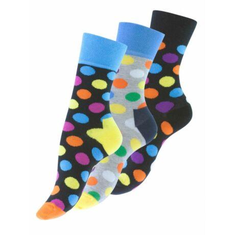 PON 4060 EVONA 3 pár pöttyös mintás zokni 35-38