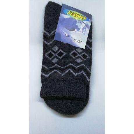 Kiárusítás - Termo zokni méret : 35-37 - (minta2)