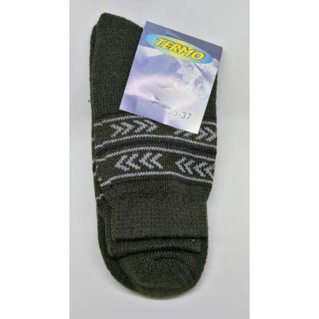 Kiárusítás - Termo zokni méret : 35-37 - (minta1)