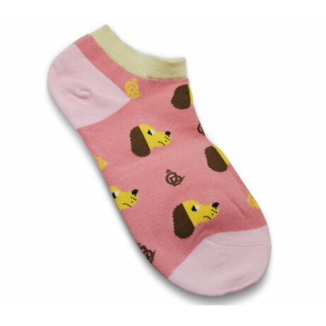 Rózsaszín kutyás zokni