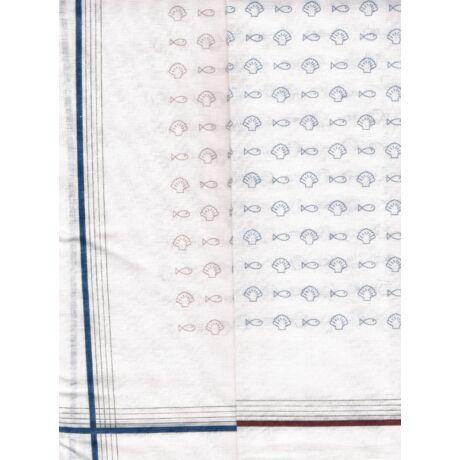 - Férfi zsebkendő 2db (fehér, halacska - kagyló minta)