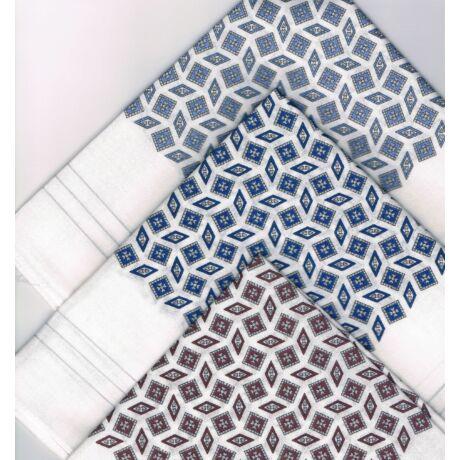 - Férfi zsebkendő 3db (fehér,színes káró mintával) ALEX 1
