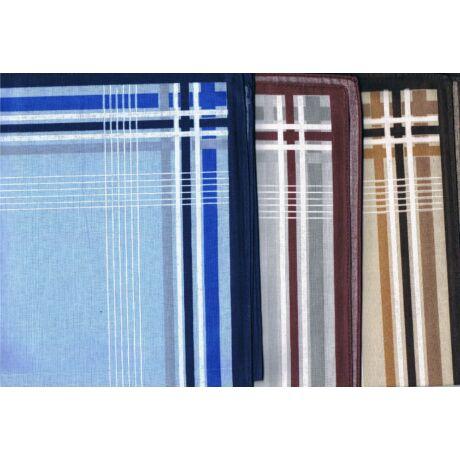- Férfi zsebkendő 3db (színes, csíkos szegéllyel) TOLEDO 3