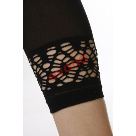 CAPRI 60 DEN fekete csipkés szárú leggings