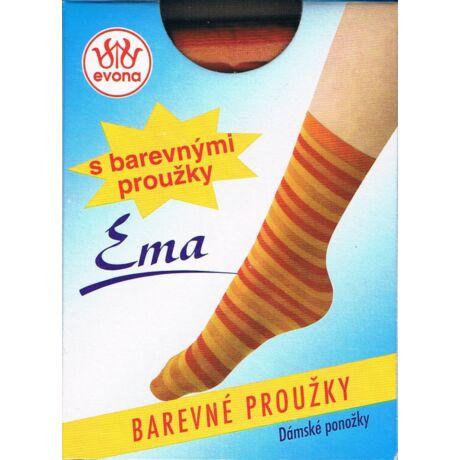 - EMA csíkos bokafix, 60 DEN, m:36-41, 1 pár