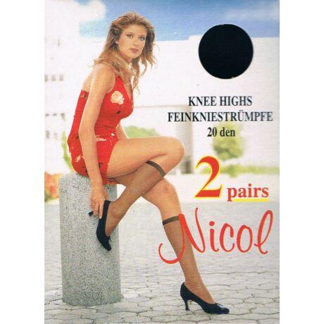 -NICOL krepp térdfix, 20 DEN, 2008 bronz, m:36-41 , 2 pár